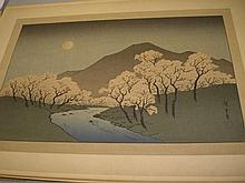 HIROSHIGE : (1797-1858) album containing 17 large