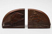 A pair of mid 20th century maritime themed mahogan