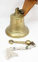 A George V ship's bell: of usual form, stamped wit