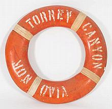 An orange life preserver from the SS Torrey Canyon
