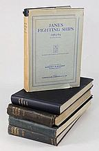 'Jane's Fighting Ships', five volumes 1937, 1938,