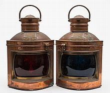 A pair of  copper and brass 'Davey's Patent Improv