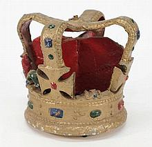 An Admiralty pattern crown:, painted in colours on