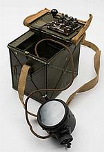 A WWII period daylight short range signal lamp:, i