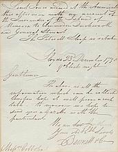 A manuscript letter from Bennett & Co to Messers C