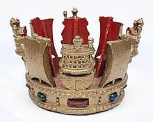 An Admiralty pattern cast aluminium crown:, painte