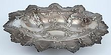 An Austro Hungarian silver oval Dish, maker FR ?: