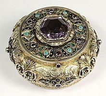 An Austro-Hungarian silver, enamel and gilt decora
