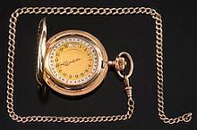 A gentleman's 14ct gold cased keyless lever moonph