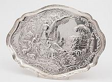 An Edwardian silver dressing table tray, maker Wil