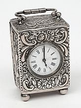 A Victorian silver cased travelling timepiece, mak