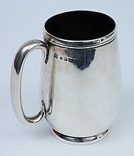 A Victorian silver mug, maker Josiah Williams & Co