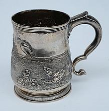 A George II silver tankard, maker Charles Hatfield