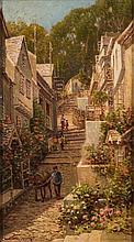 * Arthur White [1865-1953]- The New Inn Clovelly:-