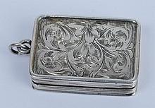 A Victorian silver vinaigrette, maker Francis Clar