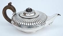 A George IV silver teapot, no maker's mark, London