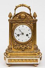 Le Noir à Paris, an ormolu mantel clock: the eight