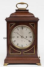 James McCabe, London a mahogany bracket clock: the