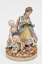 A Marcolini Meissen porcelain figure group 'Broken