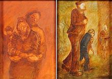 *Jim Gilbert [1933-1995]- Couple embracing; Man