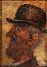 *Jim Gilbert ]1933-1995]- Man in bowler hat:-