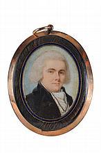 English School circa 1800- Miniature portrait of a