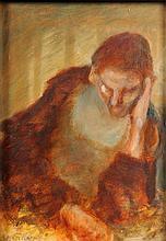 *Jim Gilbert ]1933-1995]- Man resting:- signed