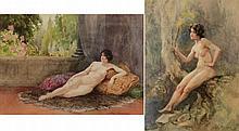 John Fisher [1859-1930]- A female nude; A