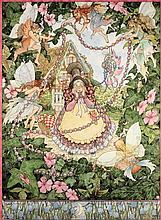 * Mary Tozer [b.1947]- Fairies in a garden:-