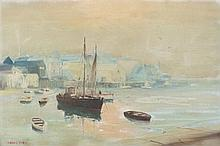 * Marcus Ford [1914-1989]- A calm harbour:- signed