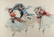 * Margaret Hamilton [1867-1952]- A Windy Day