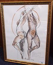 * Heather Jansch [b.1948] Nude figures:- signed