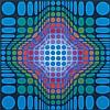 * Victor Vasarely  [1906-1997] - KST, 1976:- signe, Victor Vasarely, £160