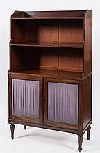 A Regency mahogany bookcase of small size:, with r
