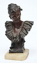 Van der Straeten, an Art Nouveau bronze bust of a