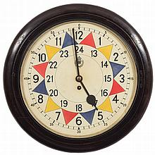 An RAF operations room sector wall clock: the eigh