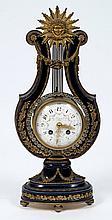 Le Roy, Paris, a French porcelain lyre clock: the