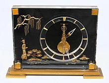 Jaeger-LeCoultre, a skeletonised mantel clock: the