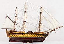 A scale model of HMS Victory:, fully rigged over d