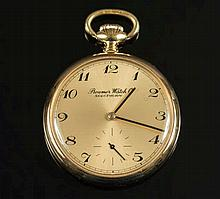 Roamer, a gold-plated keyless pocket watch: the di