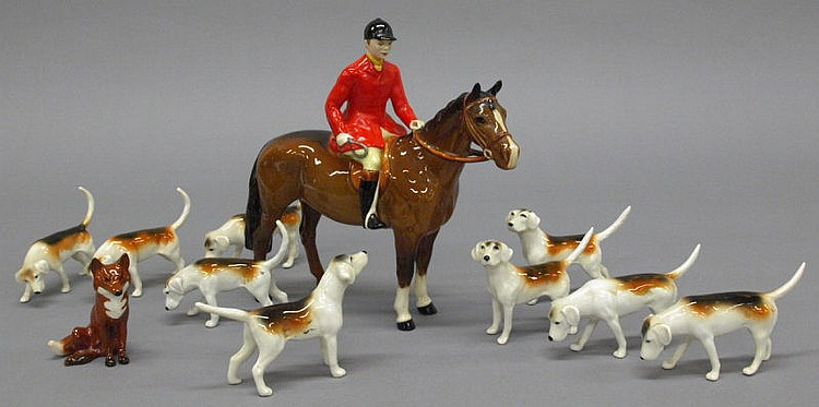A Beswick model of a huntsman, together with a