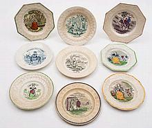 A group of nine 'Country Life' child's plates: inc