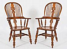 A pair of Victorian elm, ash and fruitwood stick b