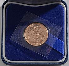 Royal Mint, an Elizabeth II gold proof sovereign: