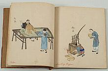 A 19th century Chinese album: depicting scenes fro