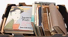 A collection of books and catalogues relating to J