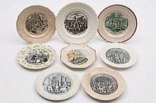 A group of eight 'Piety and Virtue' child's plates
