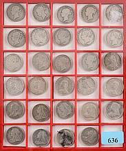 Twenty nine assorted Victorian half crowns: variou