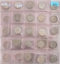 A collection of Edward VII and later monarchs half