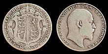 An Edward VII half crown 1905:.